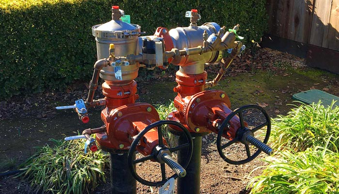 "A 4"" DCDA Backflow replacement, North Napa"